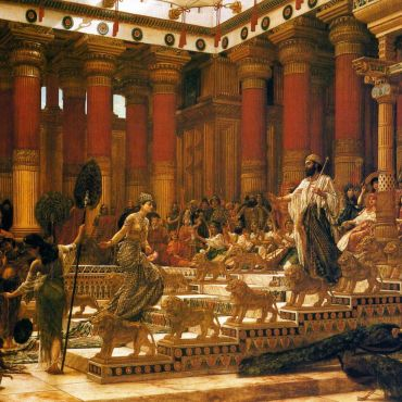 Sir Edward Poynter, The Visit of the Queen of Sheba to King Solomon