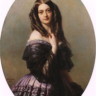 Emilie MacDonell, Viscountess Aguado, Marchioness of Las Marismas by Franz Xaver Winterhalter, 1852
