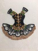 Embroidered card: Black Ballet Tutu