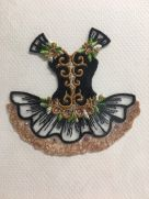 Embroidered card: Black Ballet Tutu