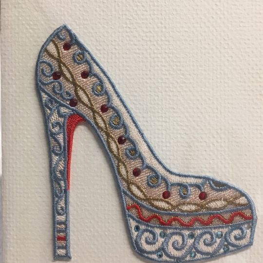 Embroidered card: Chasseure Brodee