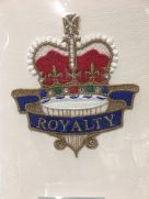 Embroidered card: Crown Royalty