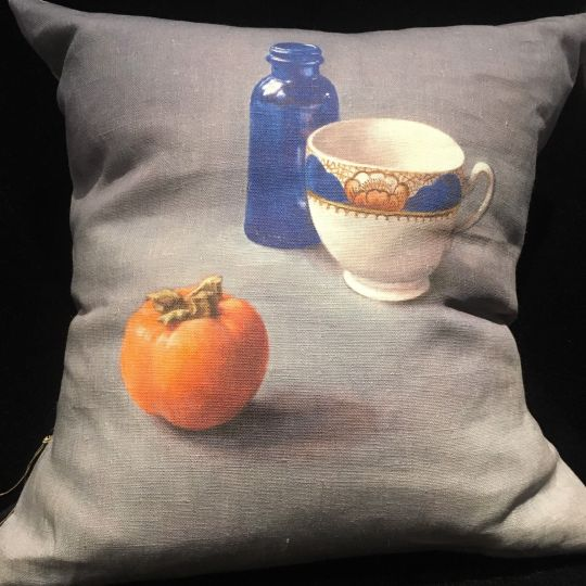 Cushion: Anita Mertzlin Limited Edition - Blue Bottle