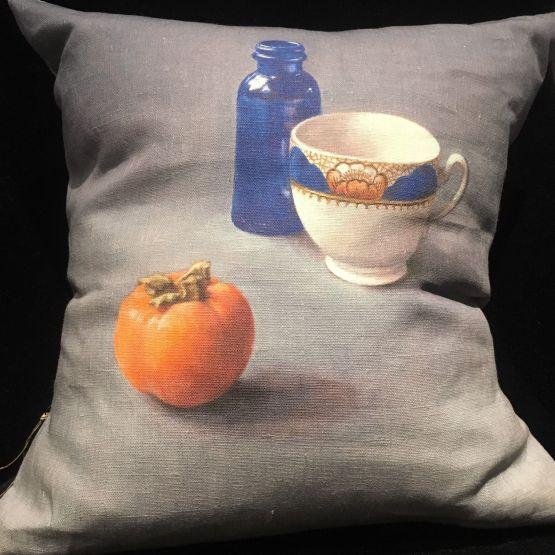 Cushion: Anita Mertzlin Limited Edition - Blue Bottle