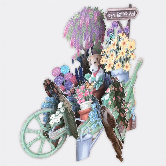 Card (3D Pop up): The Wheelbarrow