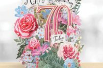 Card (3D Pop up): Birthday Flowers