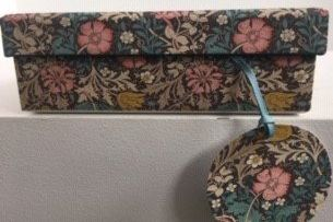 Nest Boxes - Penny Kennedy WM Classic S/berry Thief Marigold small