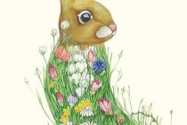 Card (DM Collection): Bunny in a Meadow