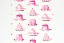 Tea Towel (Thornback & Peel): Jelly & Cake Pink