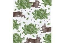 Tea Towel (Thornback & Peel): Rabbit & Cabbage