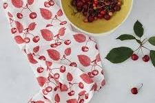 Tea Towel (Thornback & Peel): Cherry
