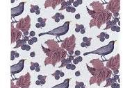 Tea Towel (Thornback & Peel): Blackbird & Bramble
