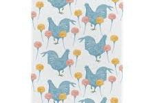 Tea Towel (Thornback & Peel): Chicken & Carnation