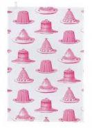 Tea Towel (Thornback & Peel): Jelly & Cake Pink
