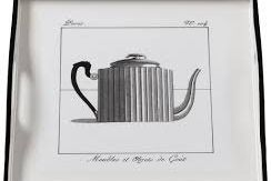 Tray (Small Square): Teapot on White
