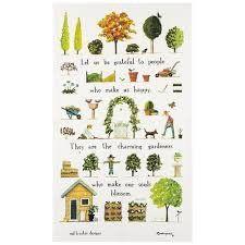 Tea Towel (Red Tractor Designs): Day in Garden