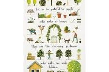 Tea Towel (Red Tractor Designs): Day in Garden