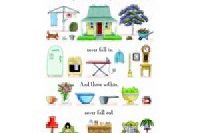 Tea Towel (Red Tractor Designs): Safe & Sound
