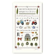Tea Towel (Red Tractor Designs): Farm Sampler
