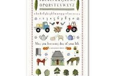 Tea Towel (Red Tractor Designs): Farm Sampler