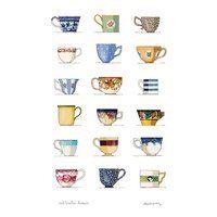 Tea Towel (Red Tractor Designs): Cups