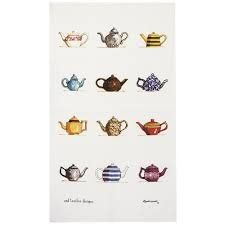 Tea Towel (Red Tractor Designs): Tea Pots