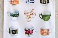Tea Towel (Lucy King): Tea Party