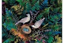 Jigsaw (1000 piece rectangular): Birds in Fern