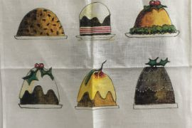 Rodriquez Tea Towel - Xmas Puddings