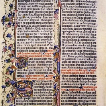 Gutenberg-Bible-1460s-Incunable-Ms.-15-Lambeth-Palace-Library-London