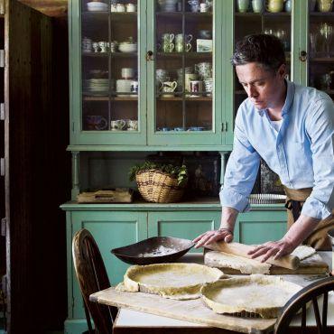 Kitchen gardener and cook in residence Aaron Bertelsen at Great Dixter