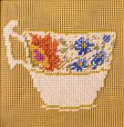 embroidery kit blue flowers 2
