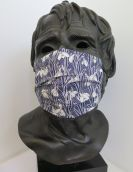 TJC Liberty Face Mask: Snowdrop DARK BLUE
