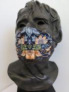 TJC Liberty Face Mask: Strawberry Thief Marigold BLUE