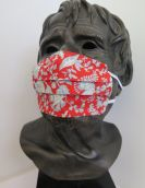 TJC Liberty Face Mask: Victoria Floral  RED