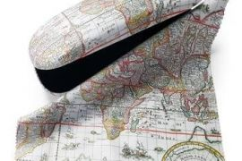 Glasses Case:Antique Maps - Map of the World
