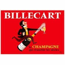 Tea Towel (La Brocante): Billecart Champagne
