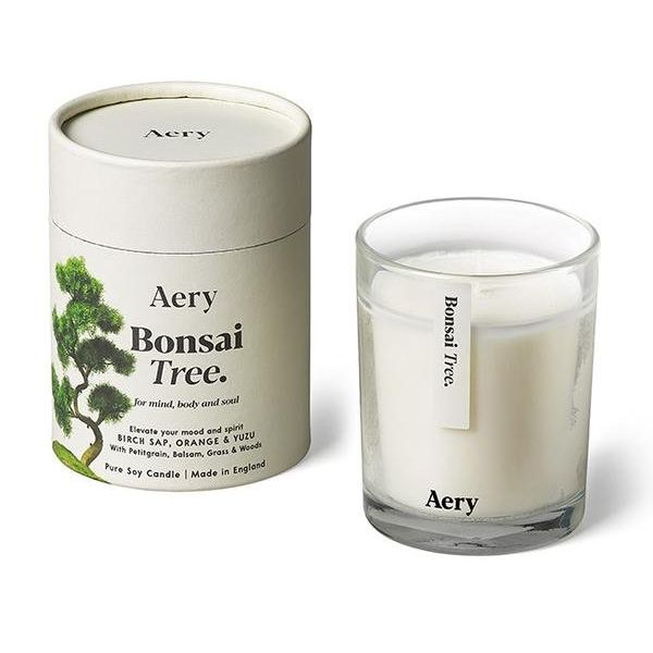 Candle: Botanical Soy Candle - Bonsai Tree