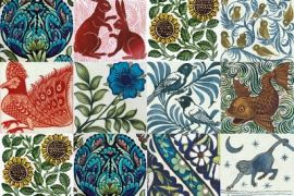 Card (V & A): Arts & Crafts Tile Designs