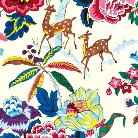 Card (V & A): Chintz Furnishing Fabric