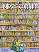 Card (The New Yorker Cover Card): Laptop in a Library