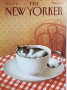 Card (The New Yorker Cover Card): Cat in a Teacup