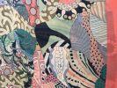 Scarf (Silk): Floral & Geometric TVB134 watermelon