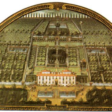 Lunette of Villa di Castello (as it appeared in 1599)