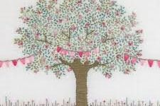 Card (Jo Butcher): Tree in Blossom with Bunting