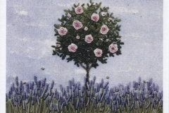 Card (Jo Butcher): Rose in Lavender Border