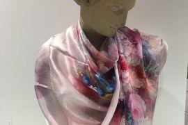 Scarf (Silk): Pastel Bouquet TTP146