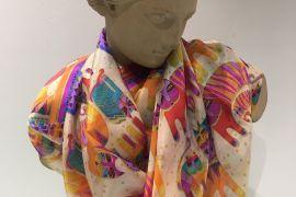 Scarf (Silk): Cats TTP104
