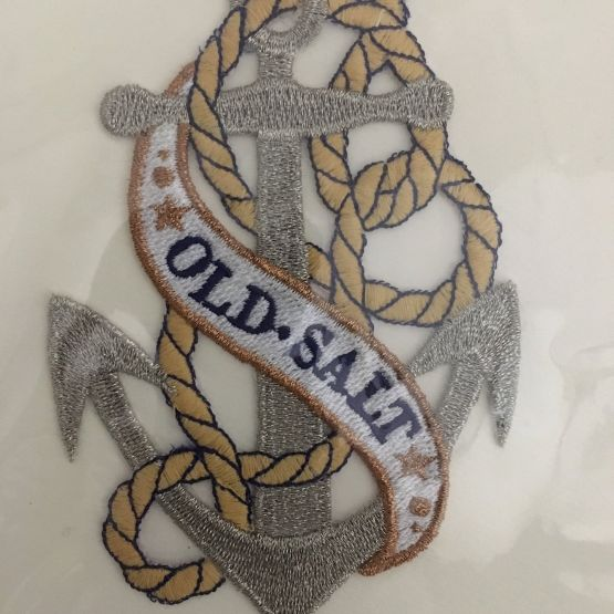 Card (Embroidered): Old Salt Anchor
