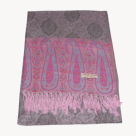 Scarf (Pashmina): Deluxe Grey Pink Blue